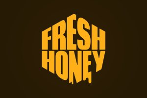 Fresh honey comp lettering