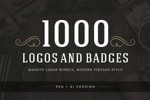 1000 Logos and Badges Bundle