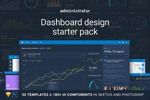 Administrator: Dashboard Design Pack