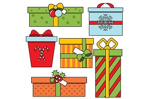 Christmas New year gift boxes