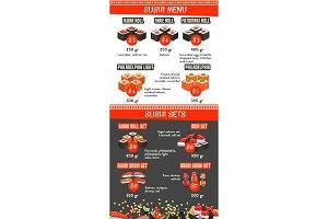 Vector Japanese cuisine Asian food menu template