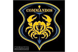 Crab - Military patch - marine theme