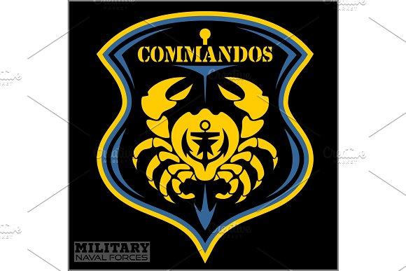 Crab Military Patch Marine Theme