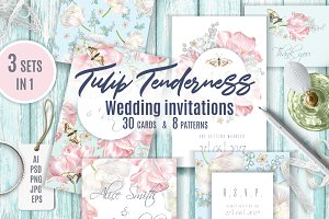 TULIP TENDERNESS|Wedding invitations