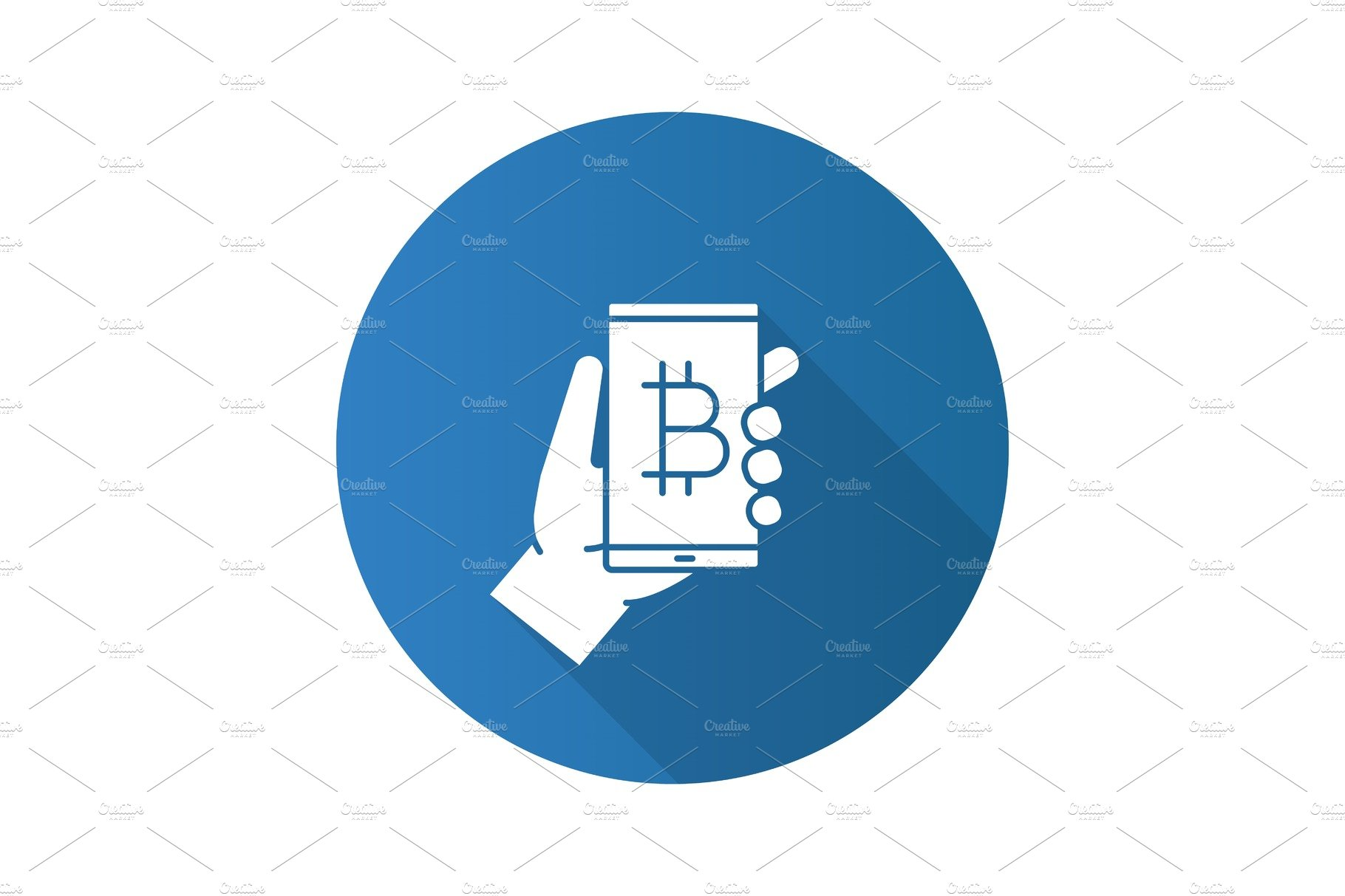 Bitcoin Digital Wallet Flat Design