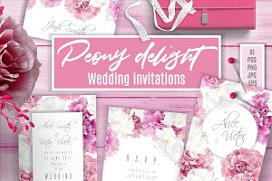 Peony Delight | Wedding invitations