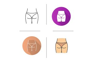 Woman's buttocks icon