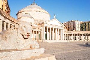 Piazza del Plebiscito, Naples Italy