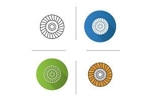 Abrasive flap wheel icon