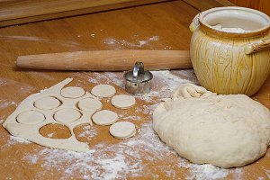 Cooking dough