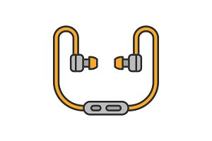 Earphones color icon