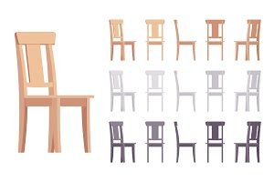 Wooden chair furniture set
