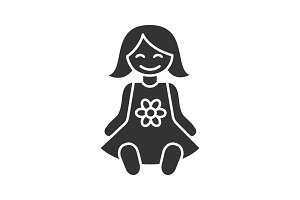Baby doll glyph icon