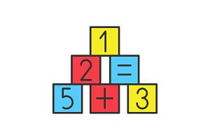 Math blocks color icon