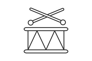 Toy drum linear icon