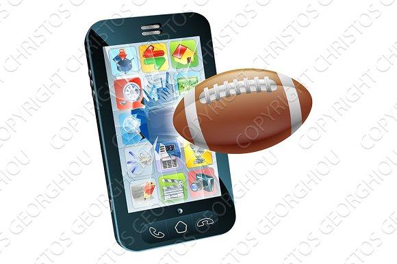 American Football Ball Cell Phone
