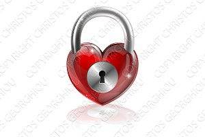 Locked heart concept