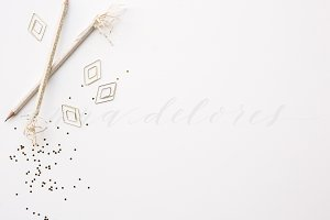 Styled Stock Product Photo, Gold