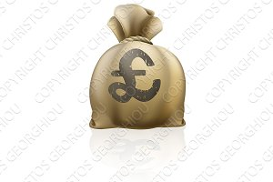 Pound sterling sign sack