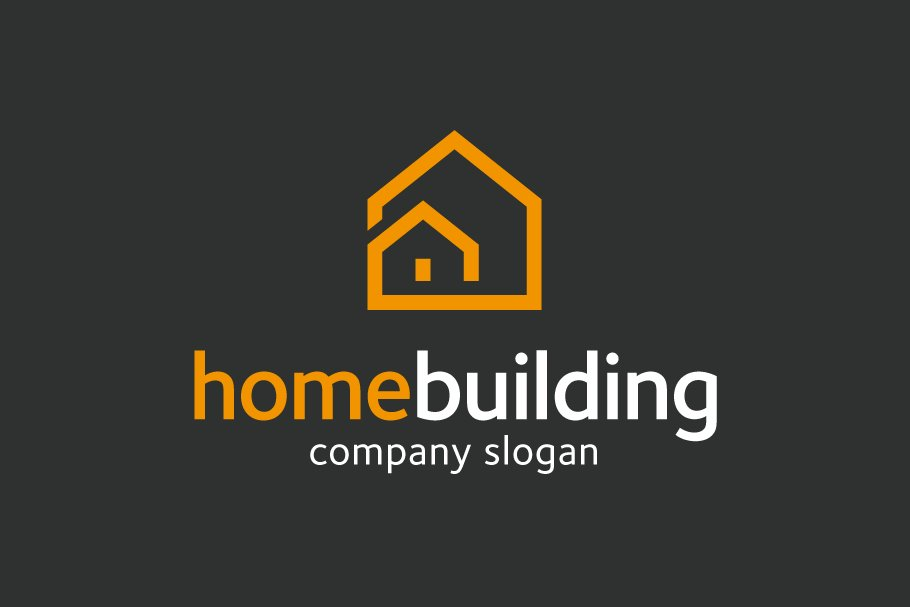 Home Building Logo Logo Templates Creative Market