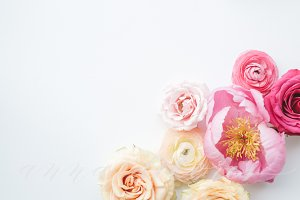 Styled Stock Photo, Pink Flowers 2