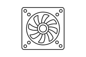 Exhaust fan linear icon