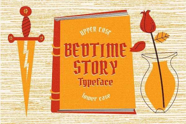 Blackletter Fonts: Oban Jones - Bedtime Story Typeface