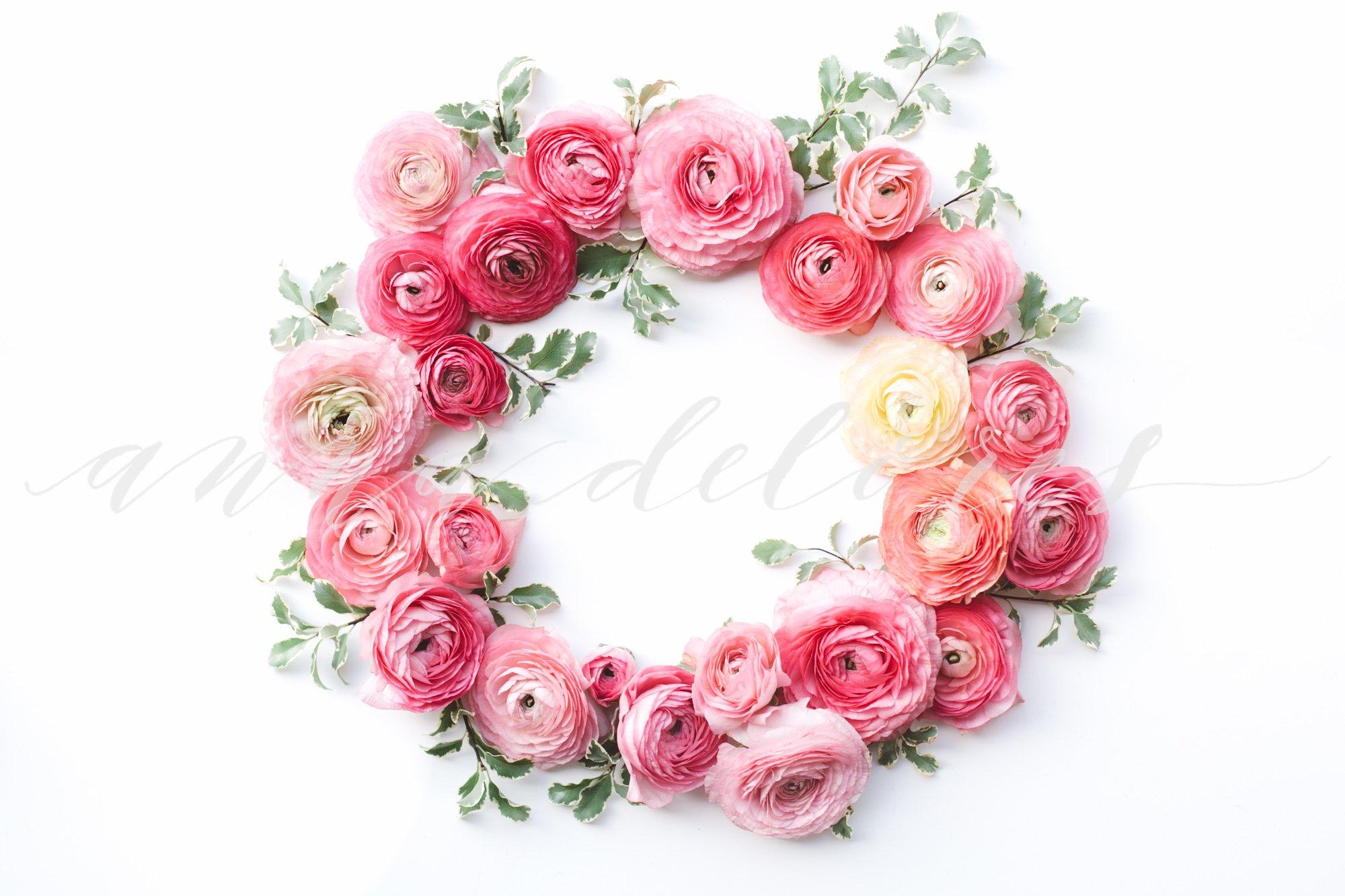 Styled Stock Photo Flower Wreath Product Mockups Creative Market