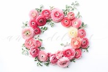 Styled Stock Photo, Flower wreath