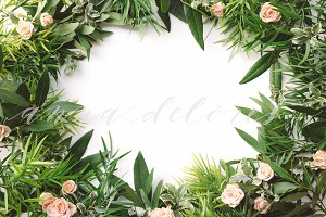 Styled Stock Photo, Greenery Wreath