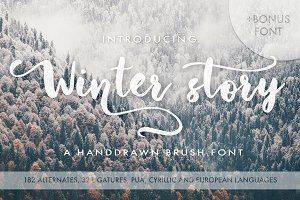 Winter Story Font.