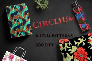 CIRCLIUM seamless modern patterns