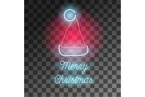 Neon Merry Christmas sign.