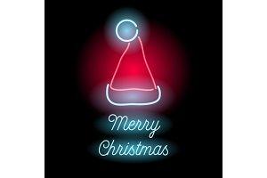 Neon Merry Christmas sign.