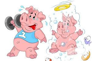 Cartoon Pig Vector 2