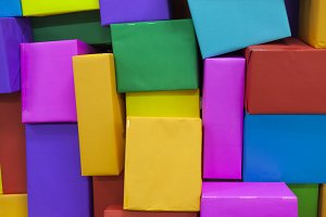 multi-colored paper