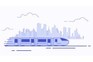 Line suburban train