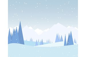 Winter forest illustration