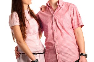 Couple in pink