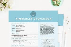 Crisp Blue Resume Template Pkg.