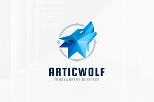 Artic Wolf Logo Template