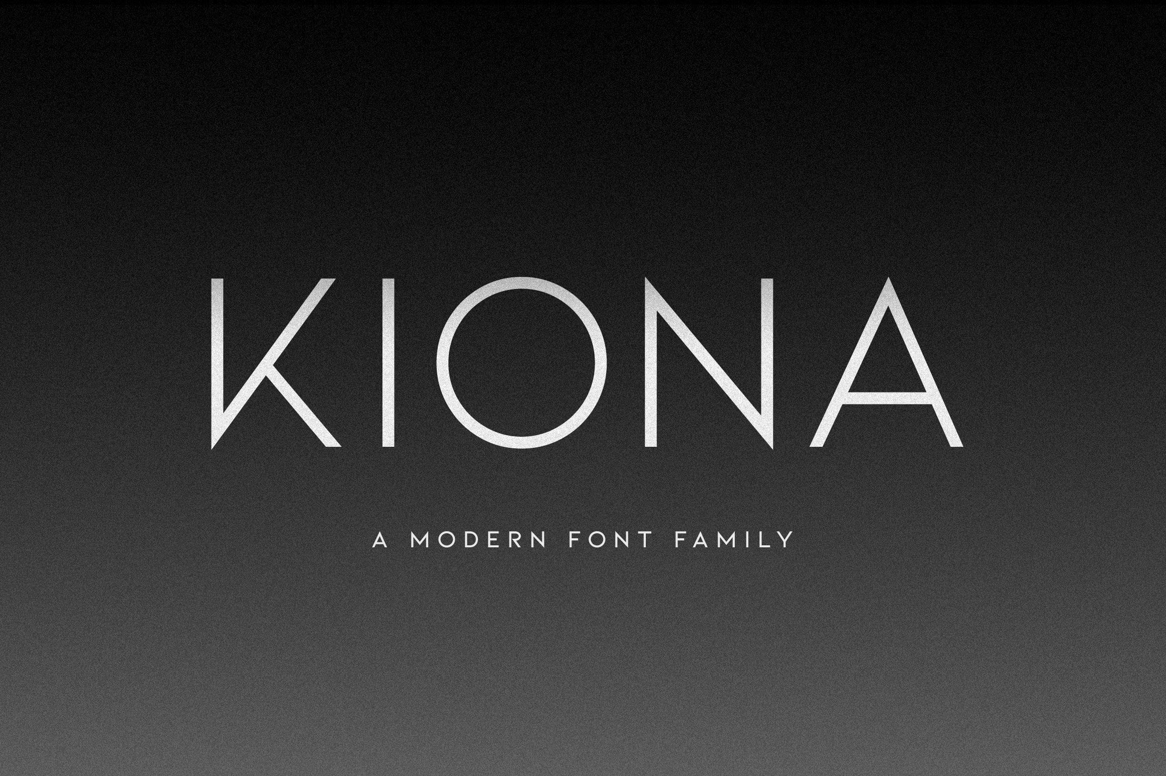 Kiona a modern sans serif sans serif fonts creative for Best modern logos 2016