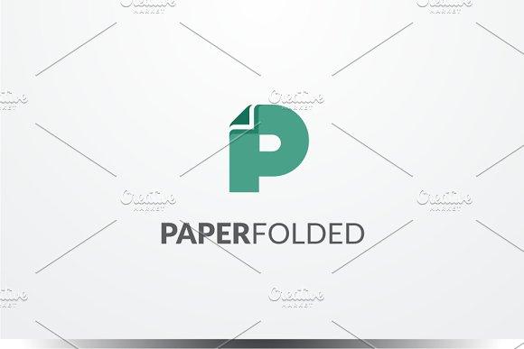 Paper Folded - Letter P Logo