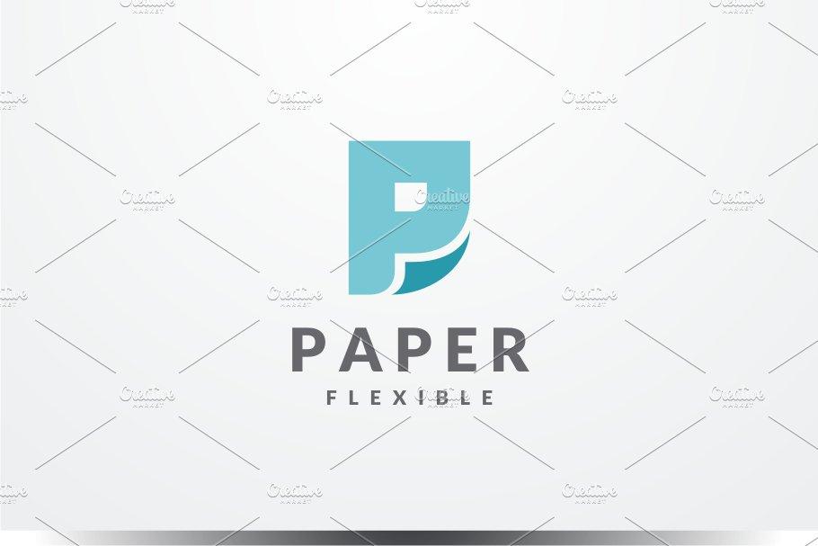 Paper Flexible - Letter P Logo