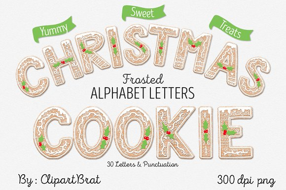 Christmas Cookie Alphabet Letters