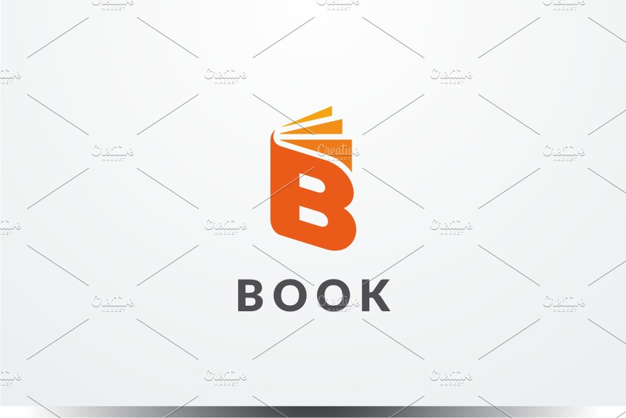 Book - Letter B Logo in Logo Templates - product preview 8