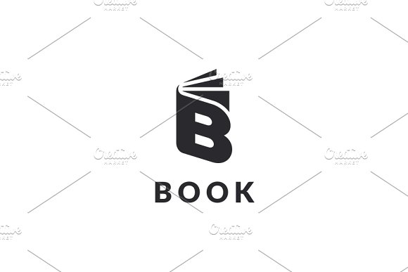 Book - Letter B Logo in Logo Templates - product preview 2