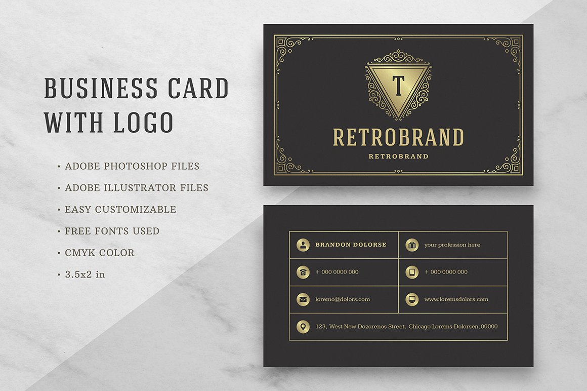Luxury Business Card ~ Business Card Templates ~ Creative Market