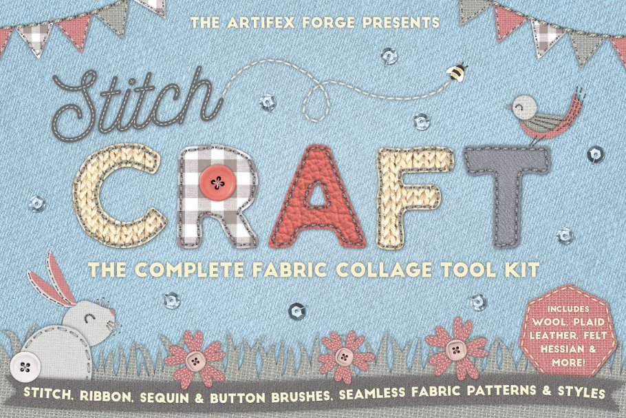 e2b6fae54d81e Stitch Craft - Brushes Styles   More ~ Add-Ons ~ Creative Market