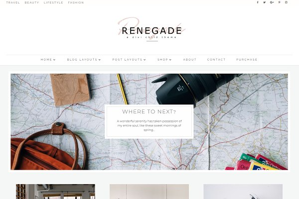 WordPress Blog Themes: Pretty Web Design - Renegade WordPress Divi Blog Theme